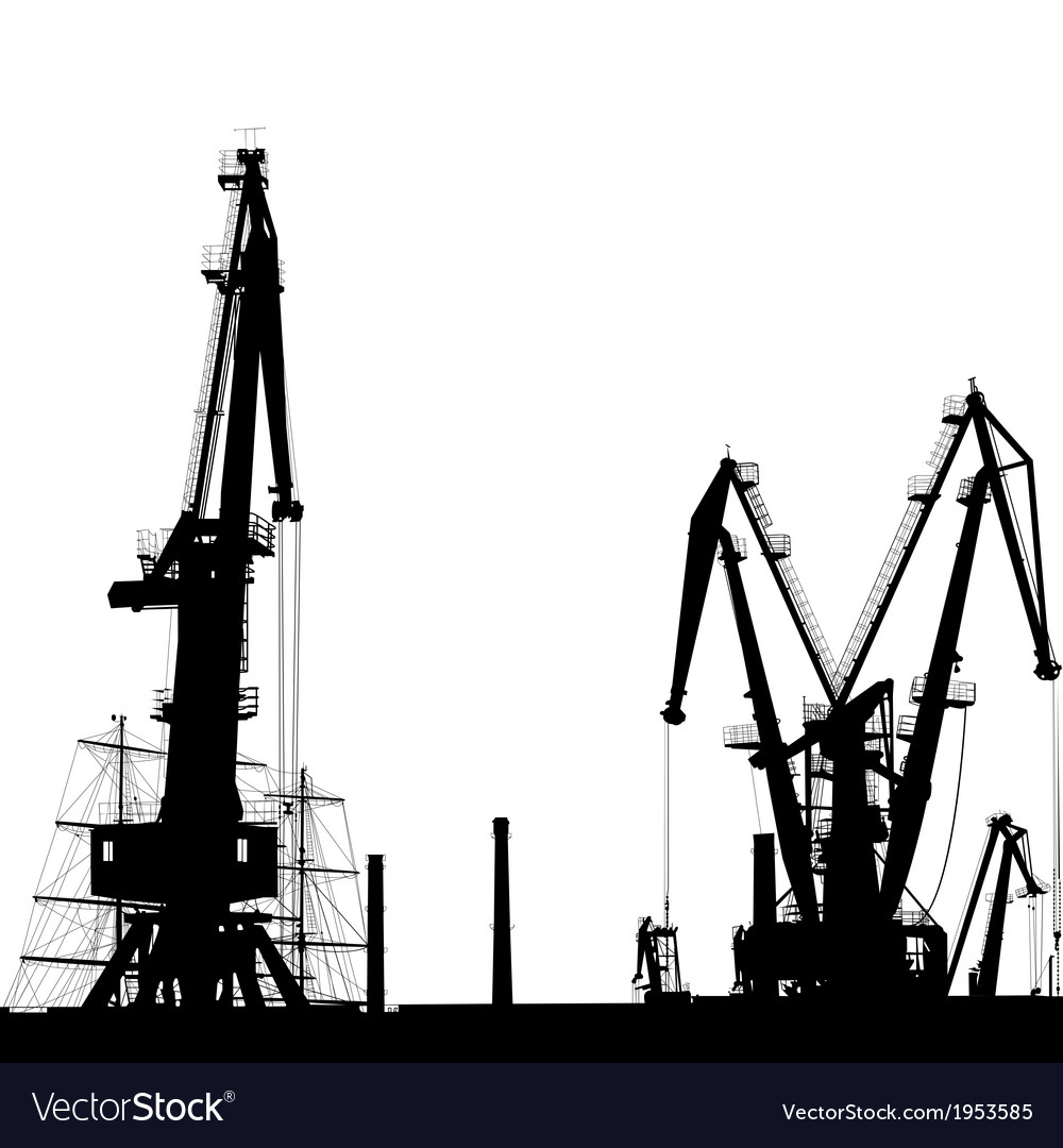 Port crane silhouette vector | Price: 1 Credit (USD $1)