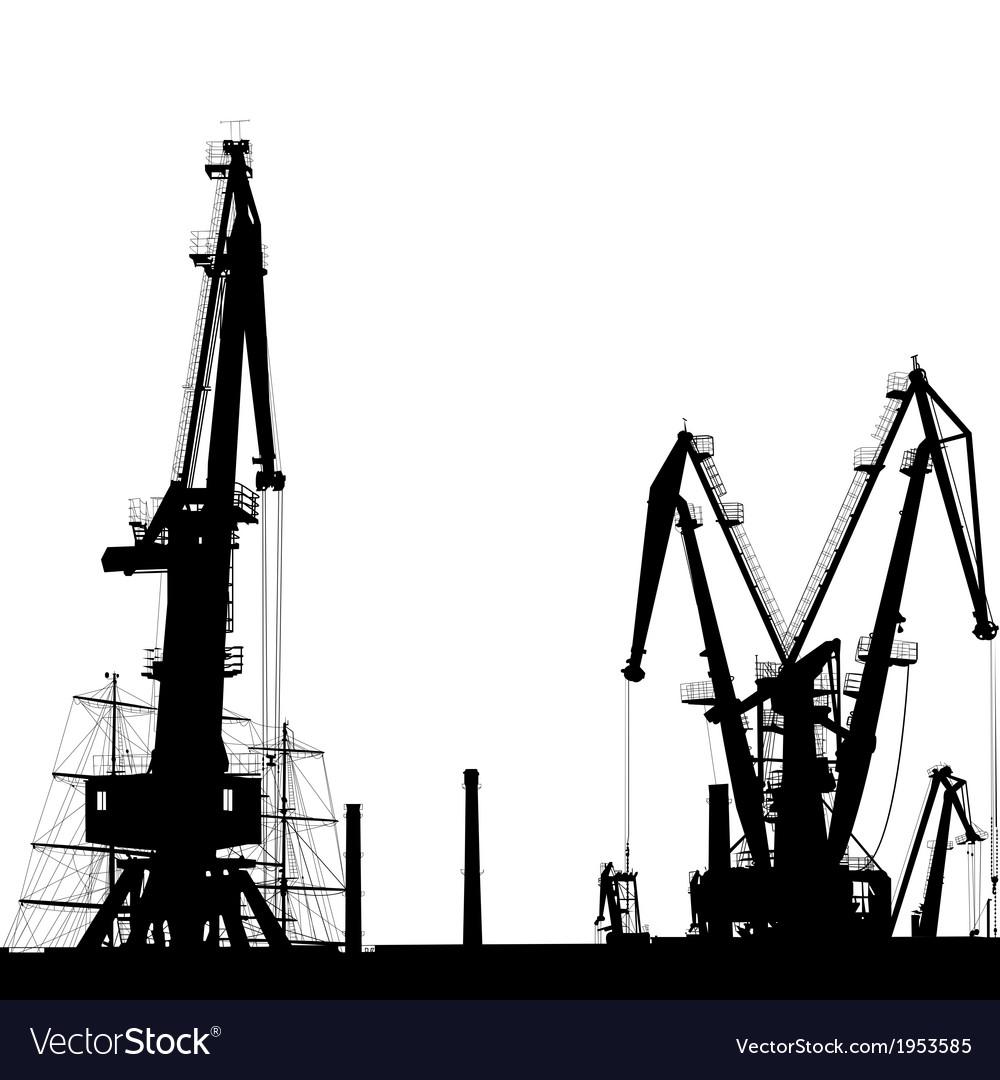 Port crane silhouette vector | Price: 1 Credit (USD $1)