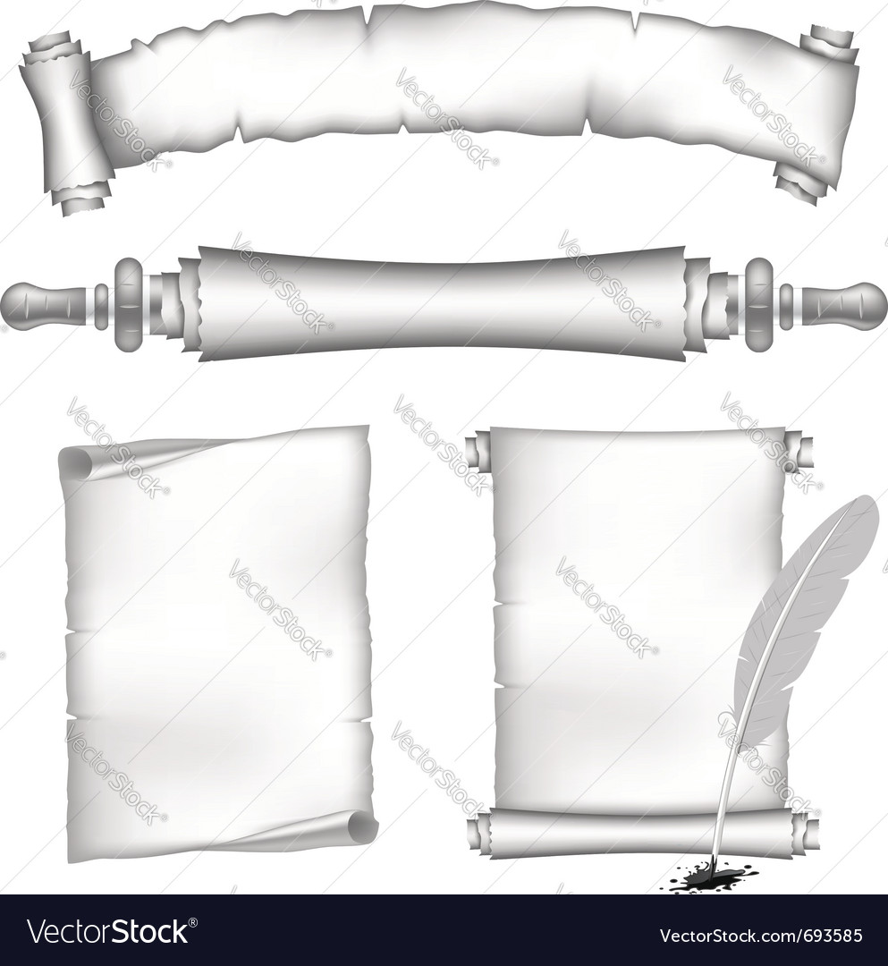 Scroll papers set vector | Price: 1 Credit (USD $1)