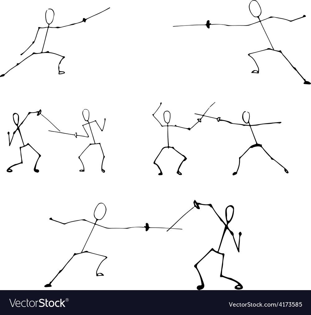 Stick human figures set vector | Price: 1 Credit (USD $1)