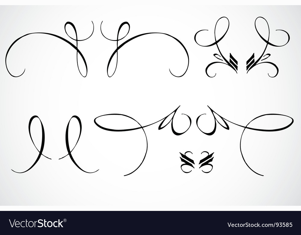 Swirl ornaments vector | Price: 1 Credit (USD $1)