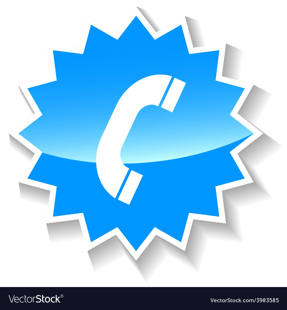 Telephone blue icon vector | Price: 1 Credit (USD $1)