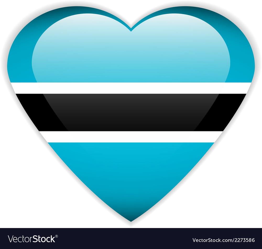 Botswana flag button vector | Price: 1 Credit (USD $1)