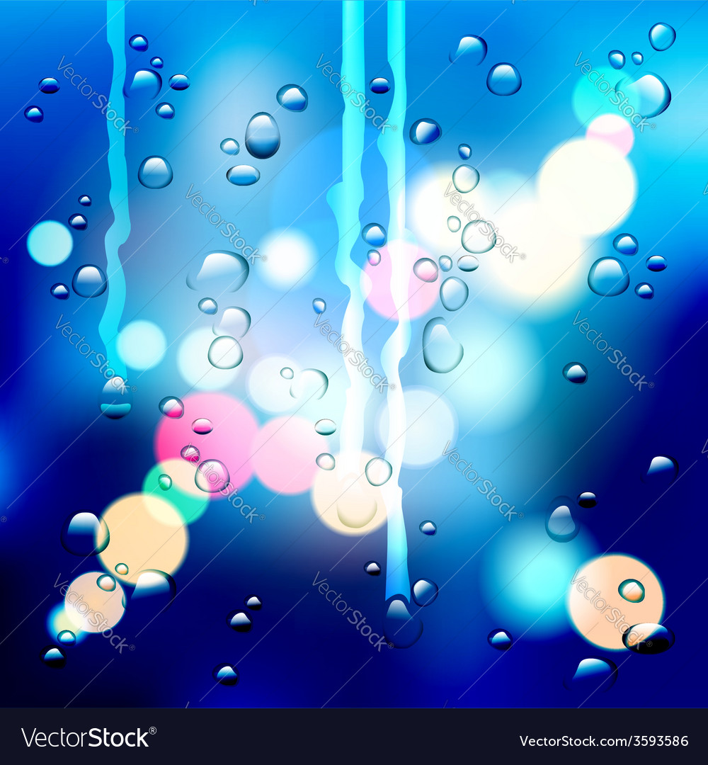 Drops on the glass vector | Price: 1 Credit (USD $1)