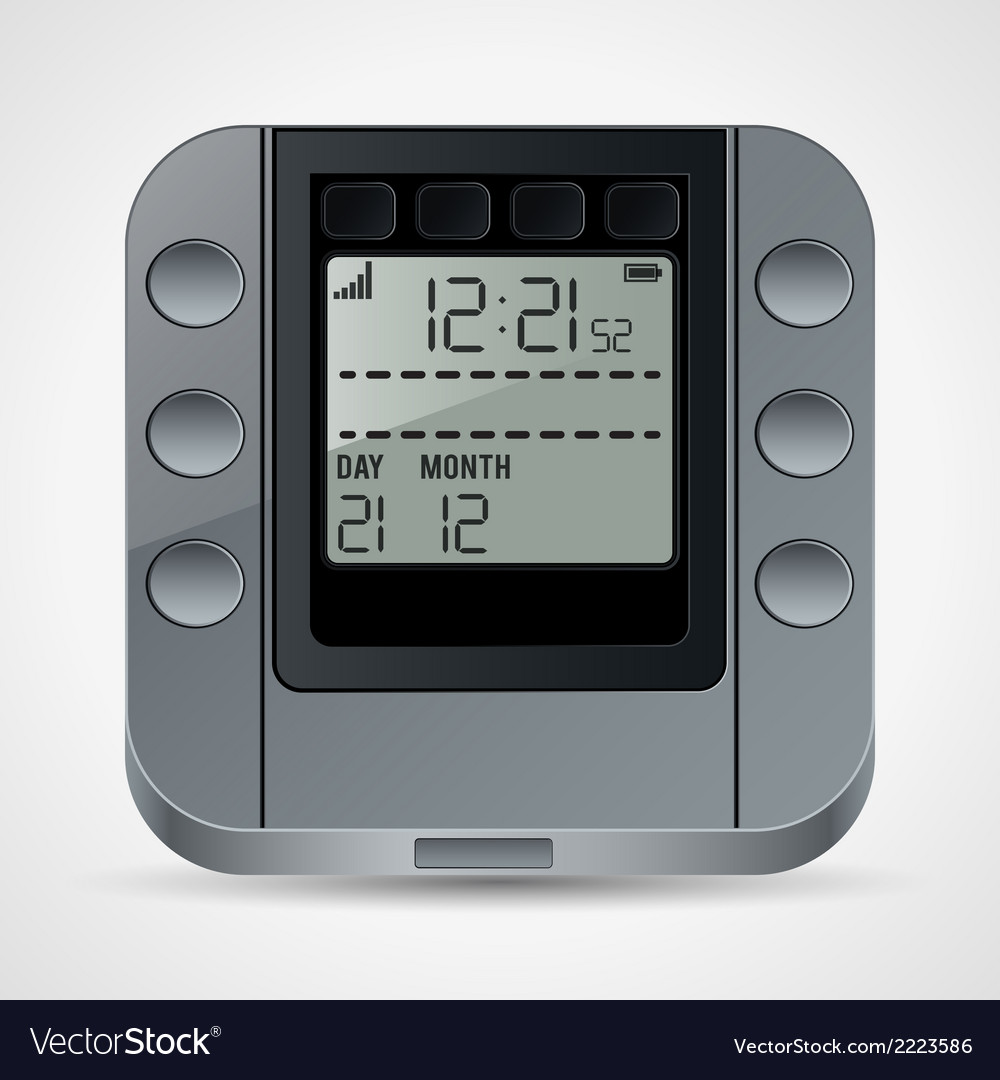Electronic clock vector | Price: 1 Credit (USD $1)