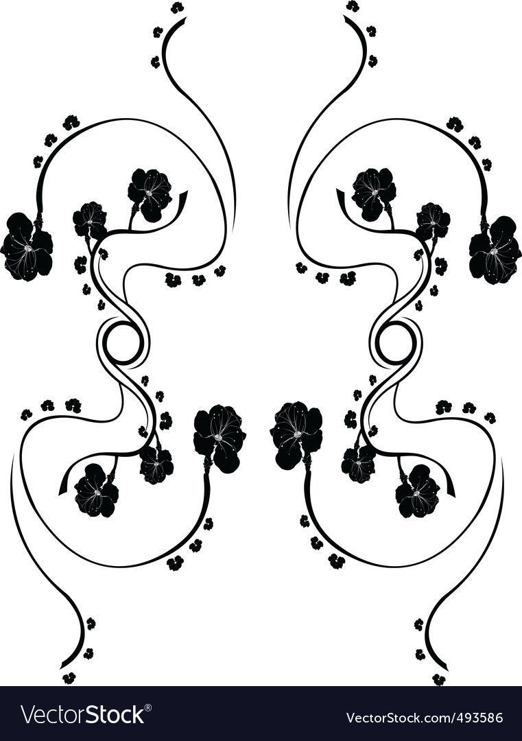 Floral element vector | Price: 1 Credit (USD $1)