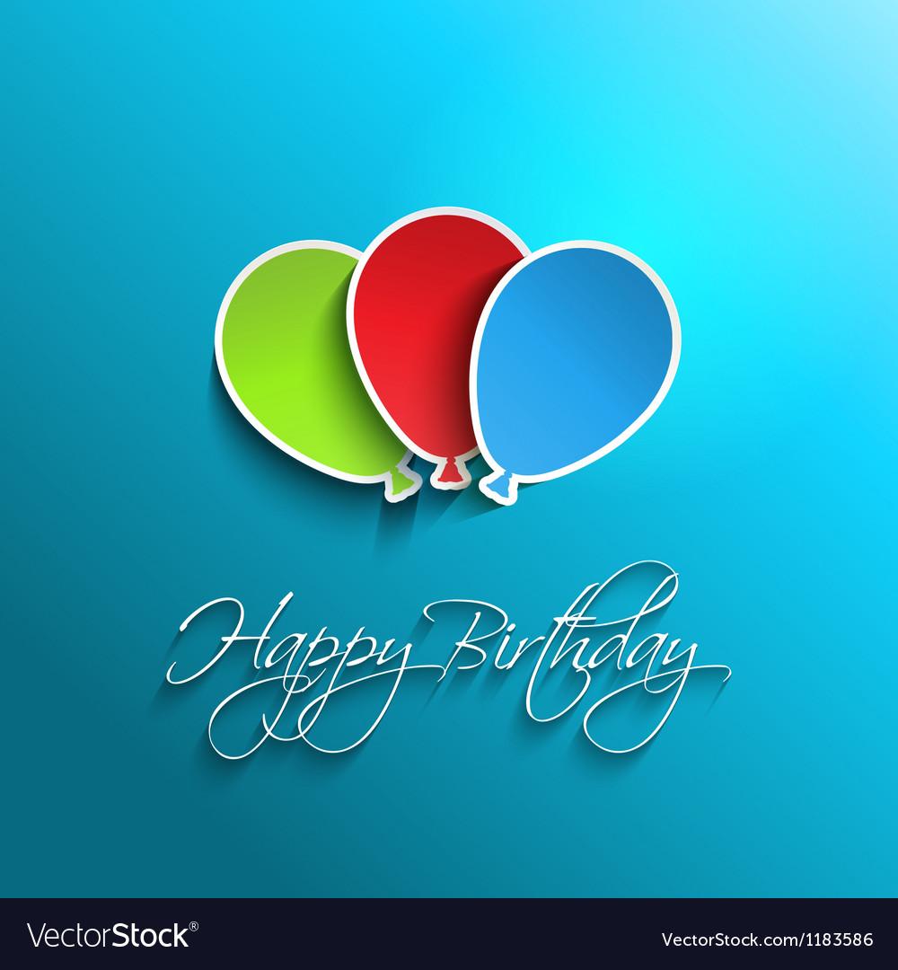 Happy birthday background vector   Price: 1 Credit (USD $1)