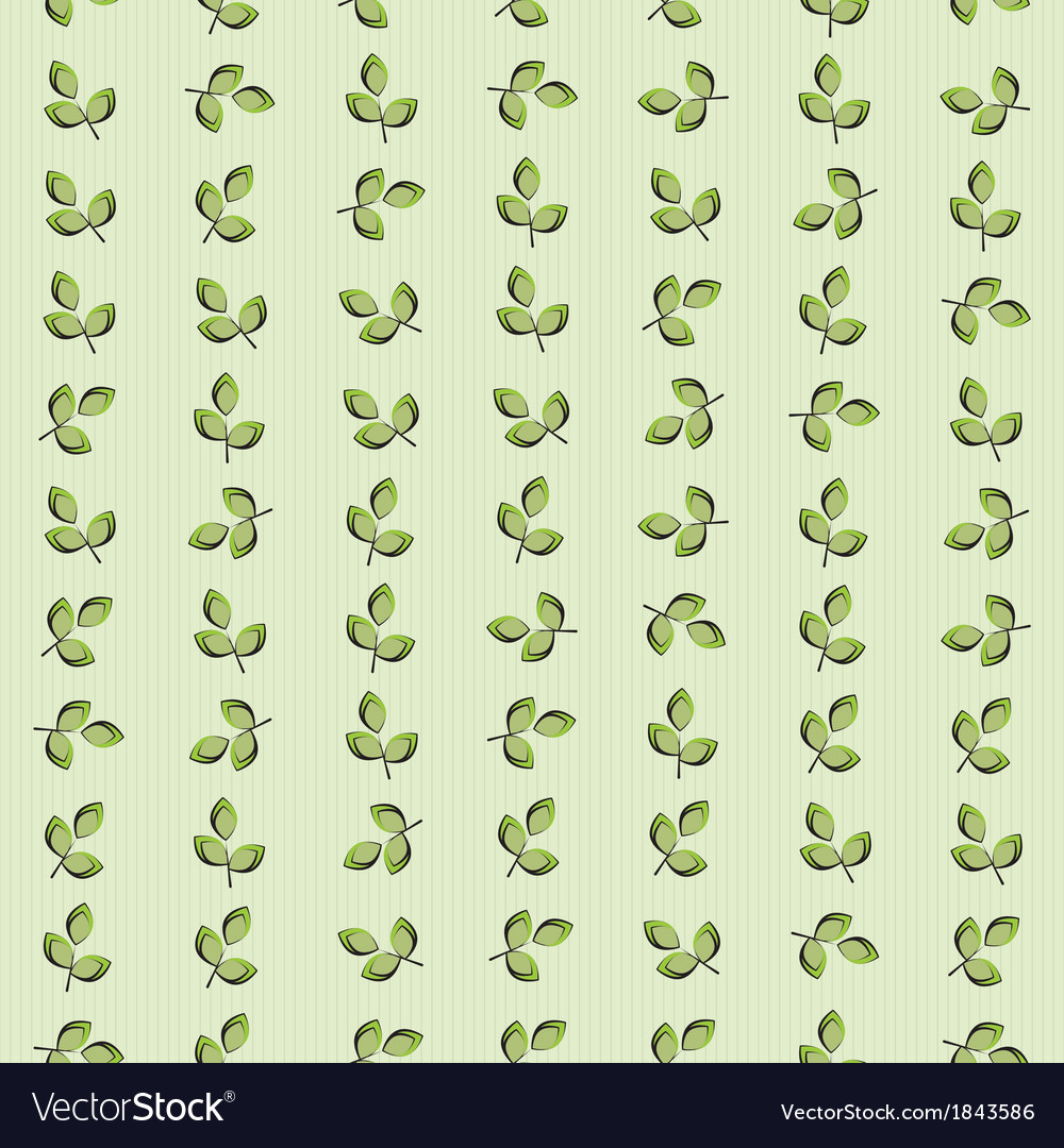 Texture pattern of green leaves striped background vector | Price: 1 Credit (USD $1)