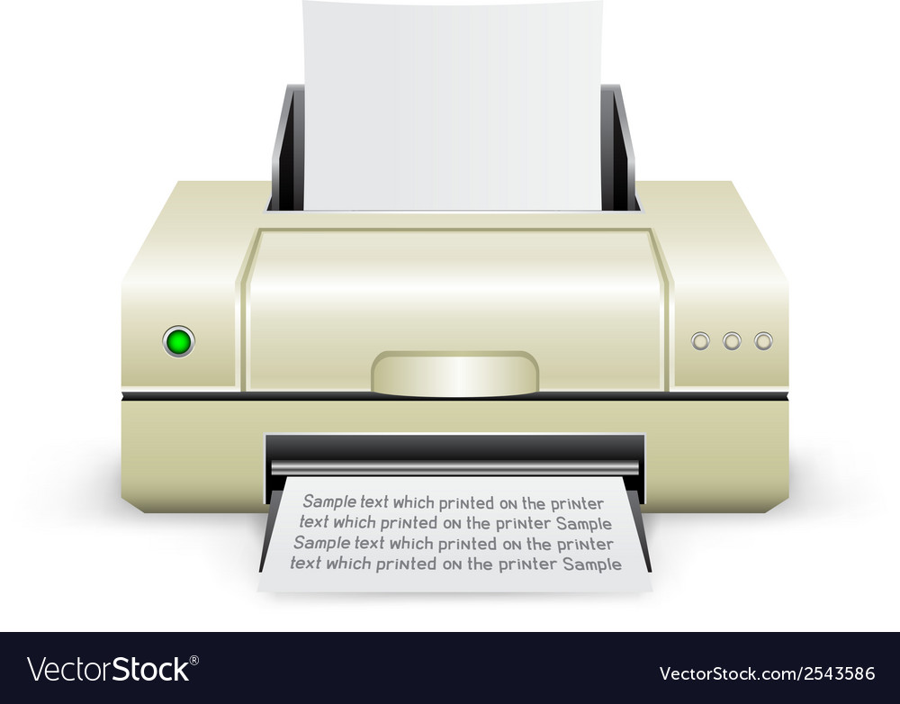 White printer icon vector | Price: 1 Credit (USD $1)