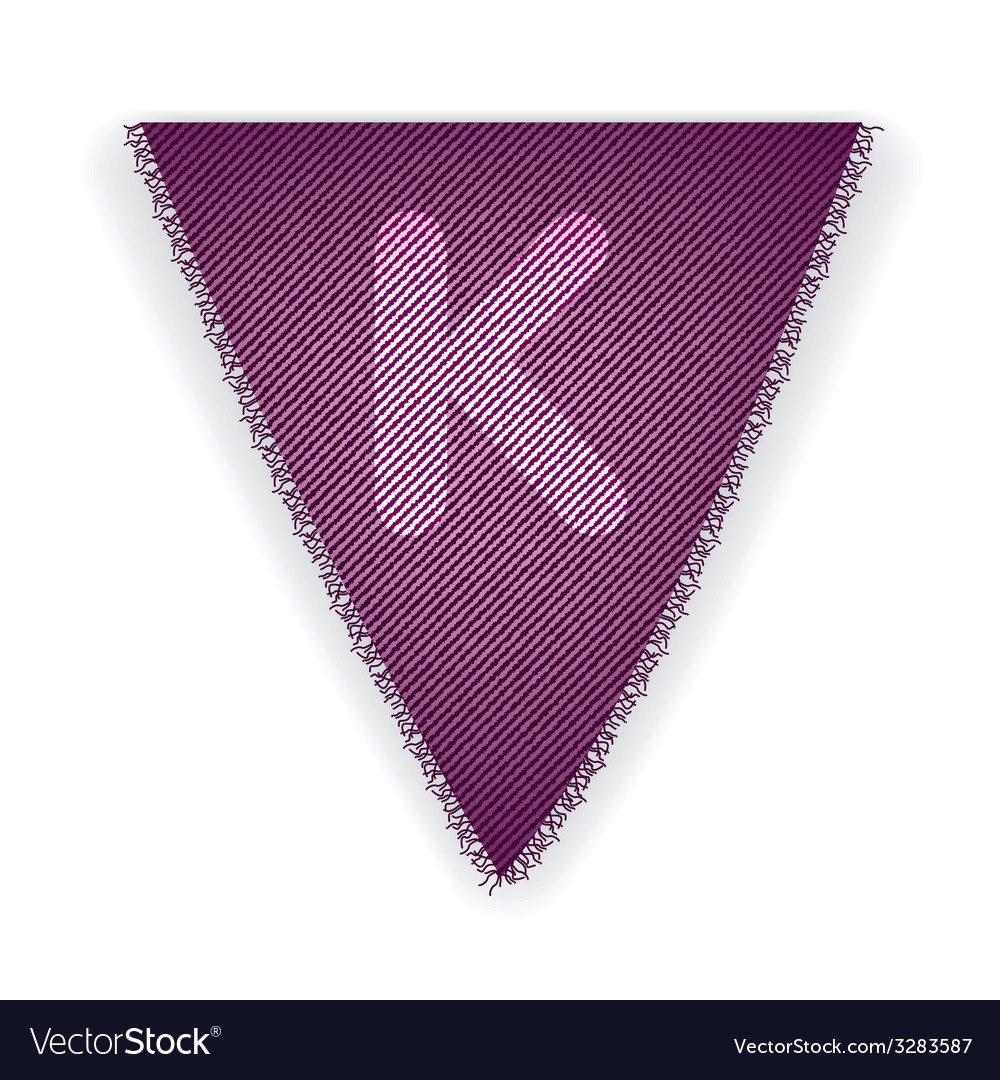 Bunting flag letter k vector | Price: 1 Credit (USD $1)