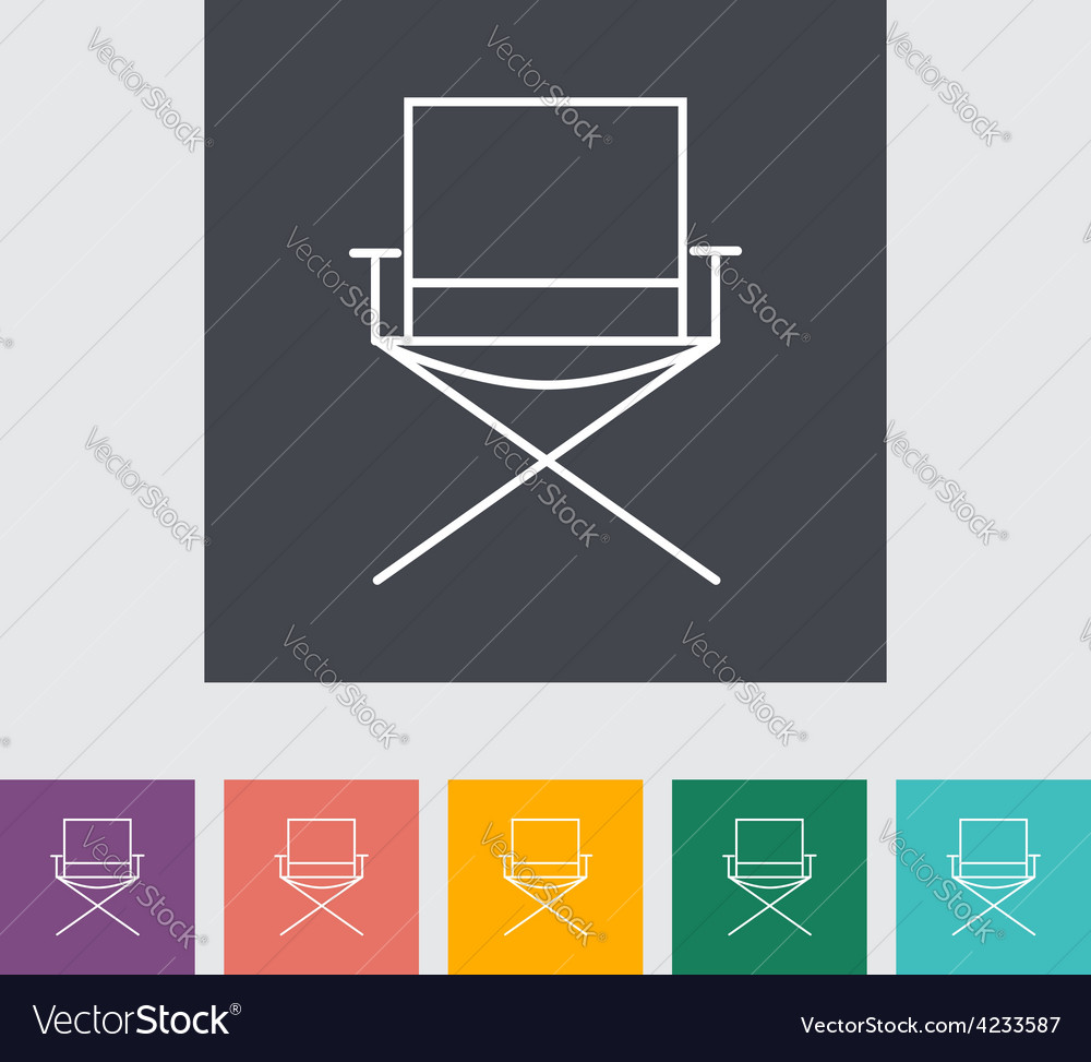 Camping chair vector | Price: 1 Credit (USD $1)