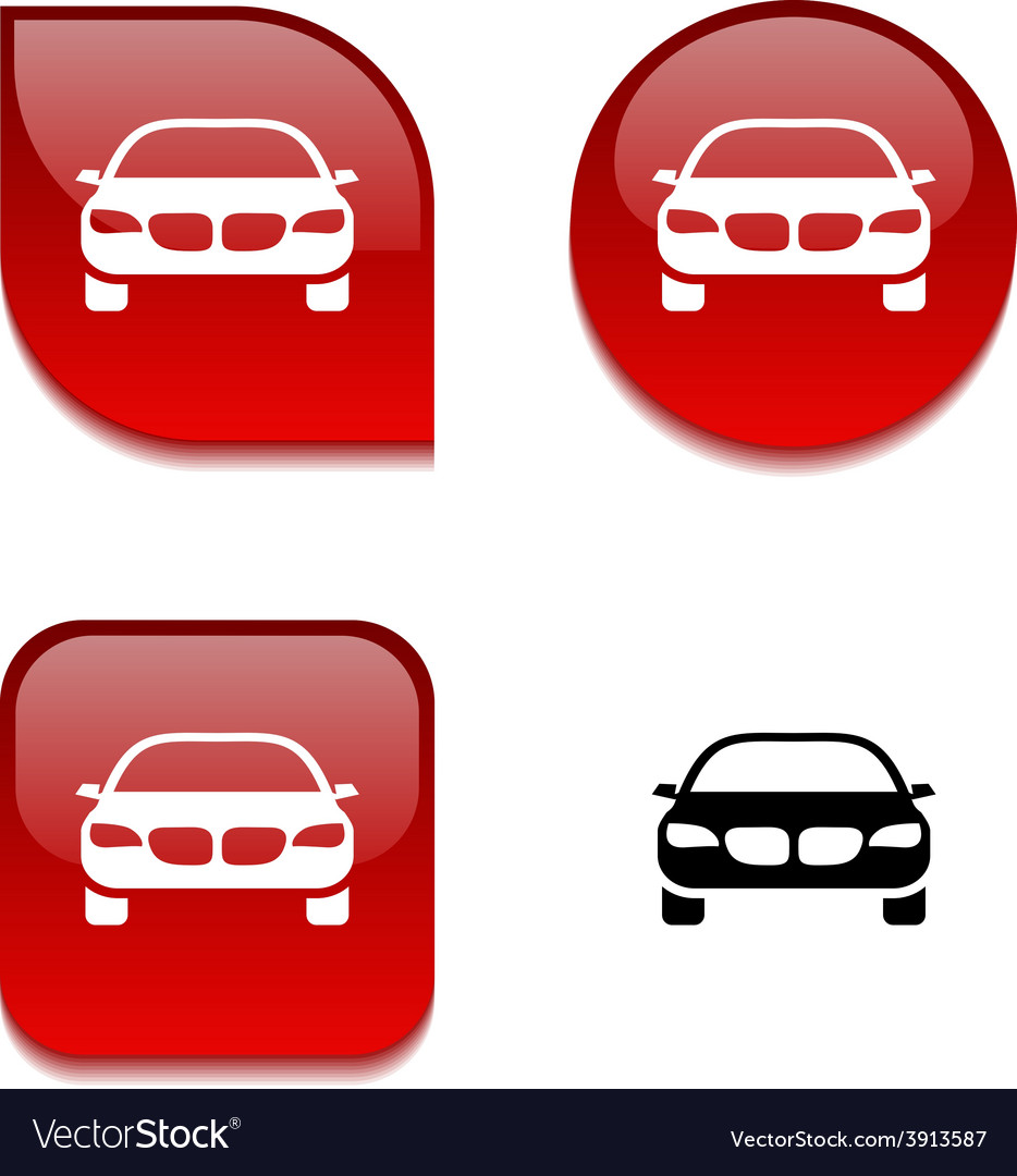 Car glossy button vector | Price: 1 Credit (USD $1)