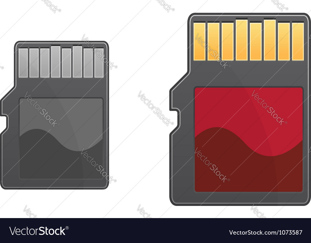 Compact memory card vector | Price: 1 Credit (USD $1)