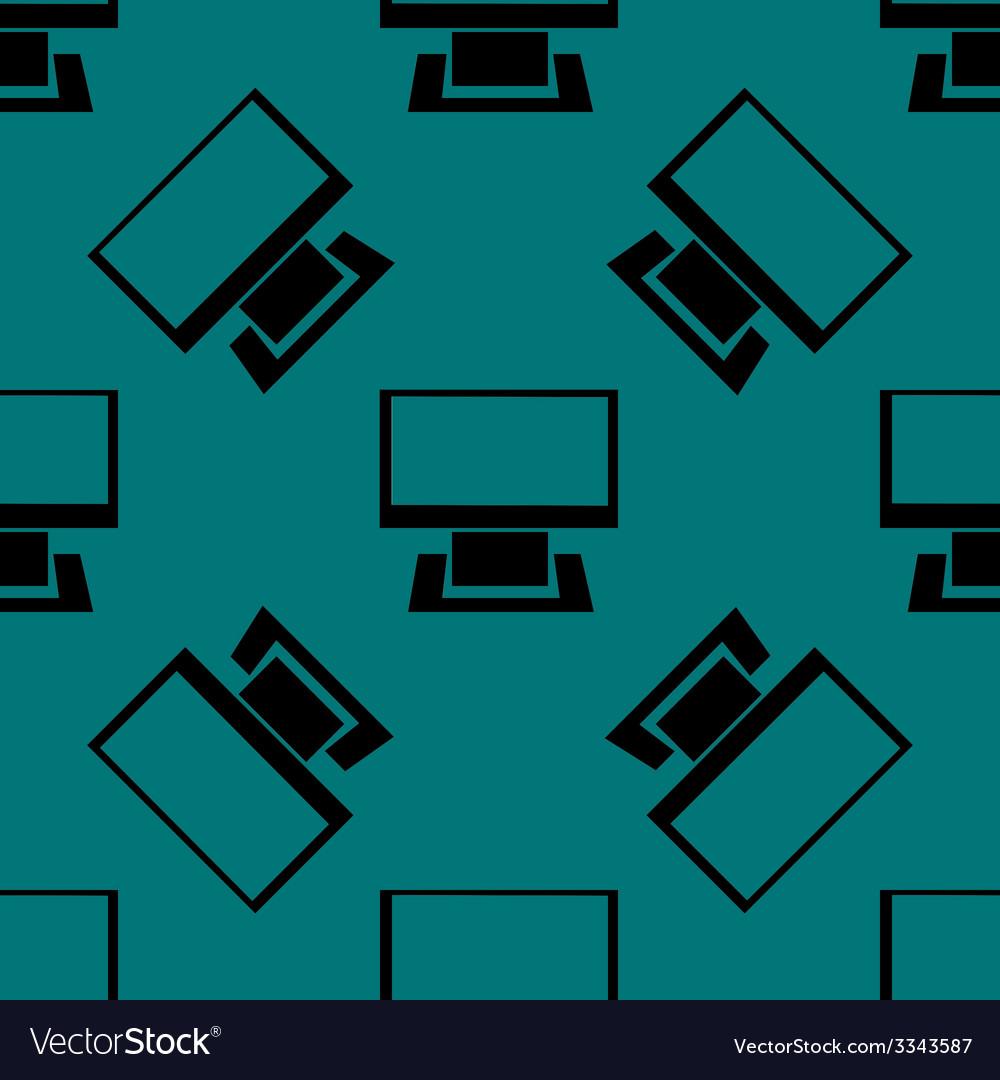 Computer web icon flat design seamless gray vector | Price: 1 Credit (USD $1)