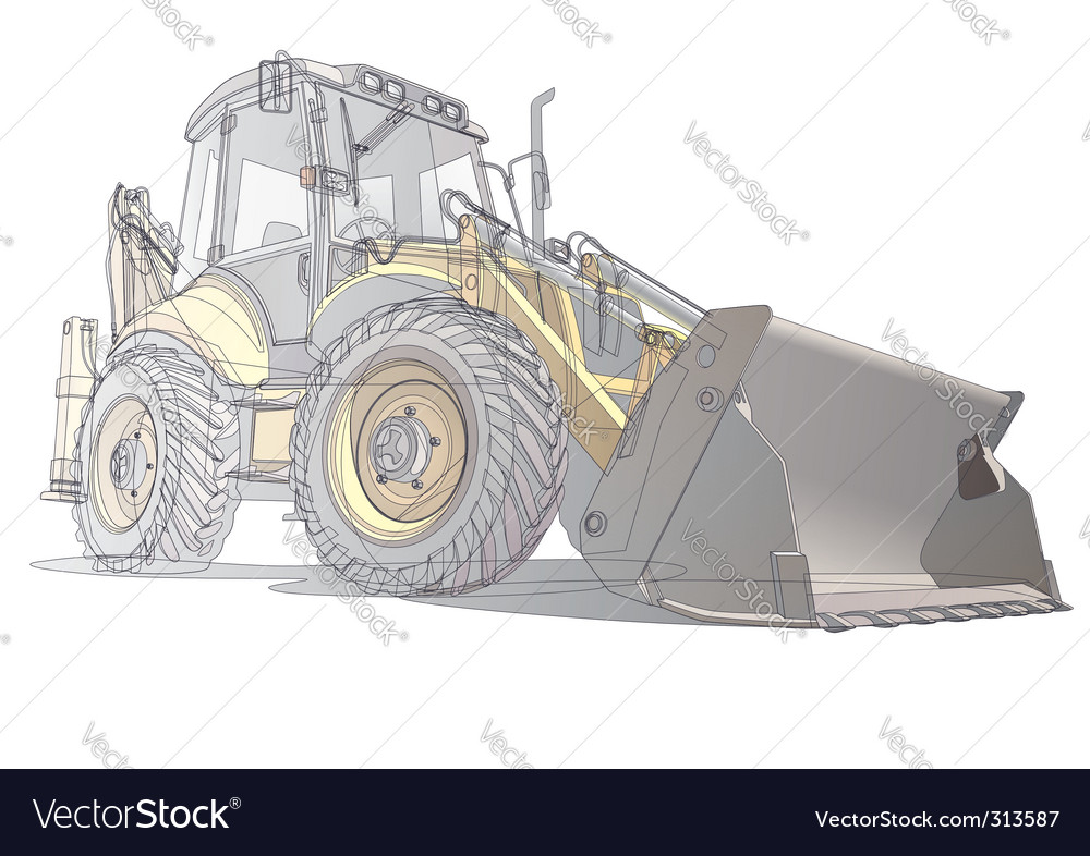 Digger illustration vector | Price: 3 Credit (USD $3)
