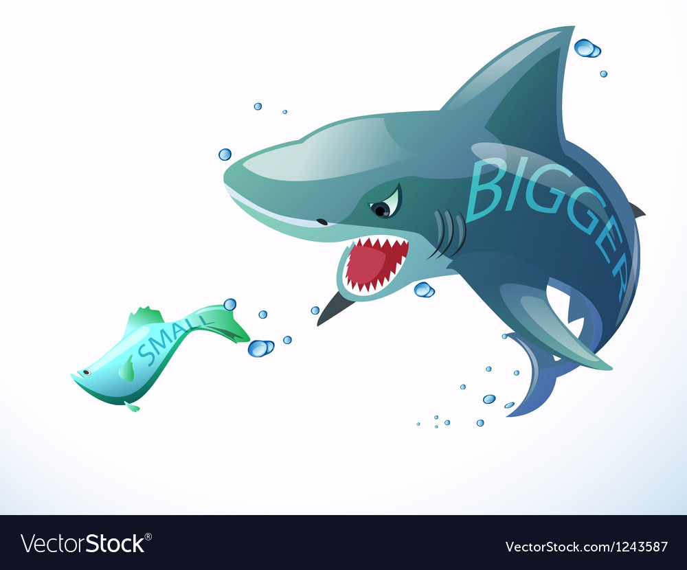 Fish bigger eat vector | Price: 1 Credit (USD $1)