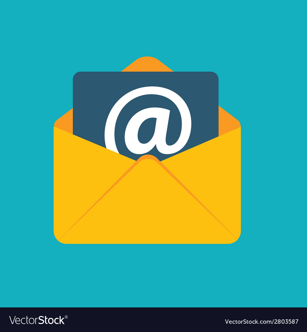 Flat design concept email send icon vector | Price: 1 Credit (USD $1)