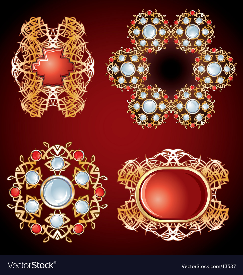 Frame of jewels vector | Price: 3 Credit (USD $3)