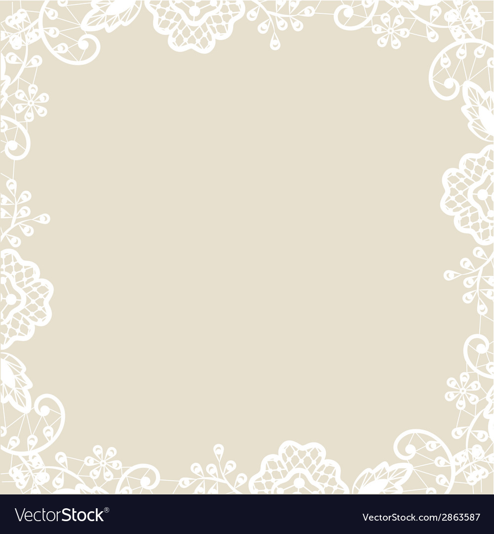 Lace on beige background vector | Price: 1 Credit (USD $1)