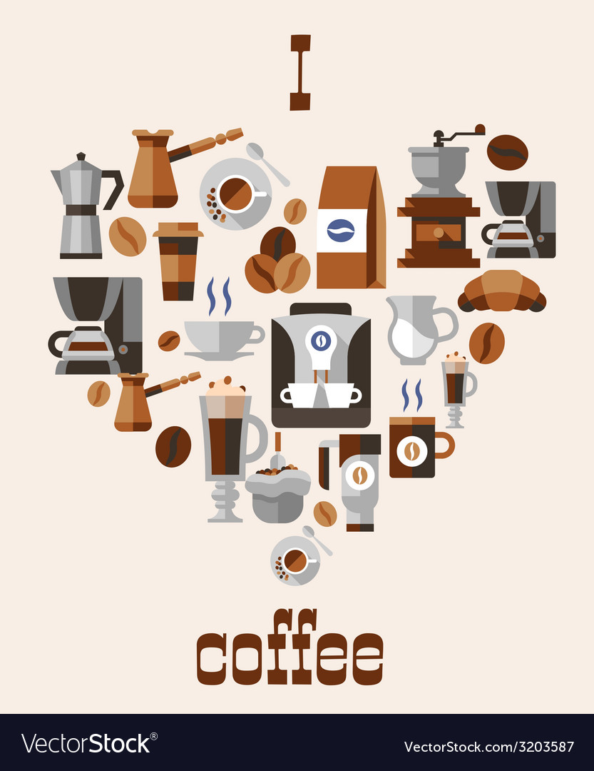 Love coffee concept vector | Price: 1 Credit (USD $1)