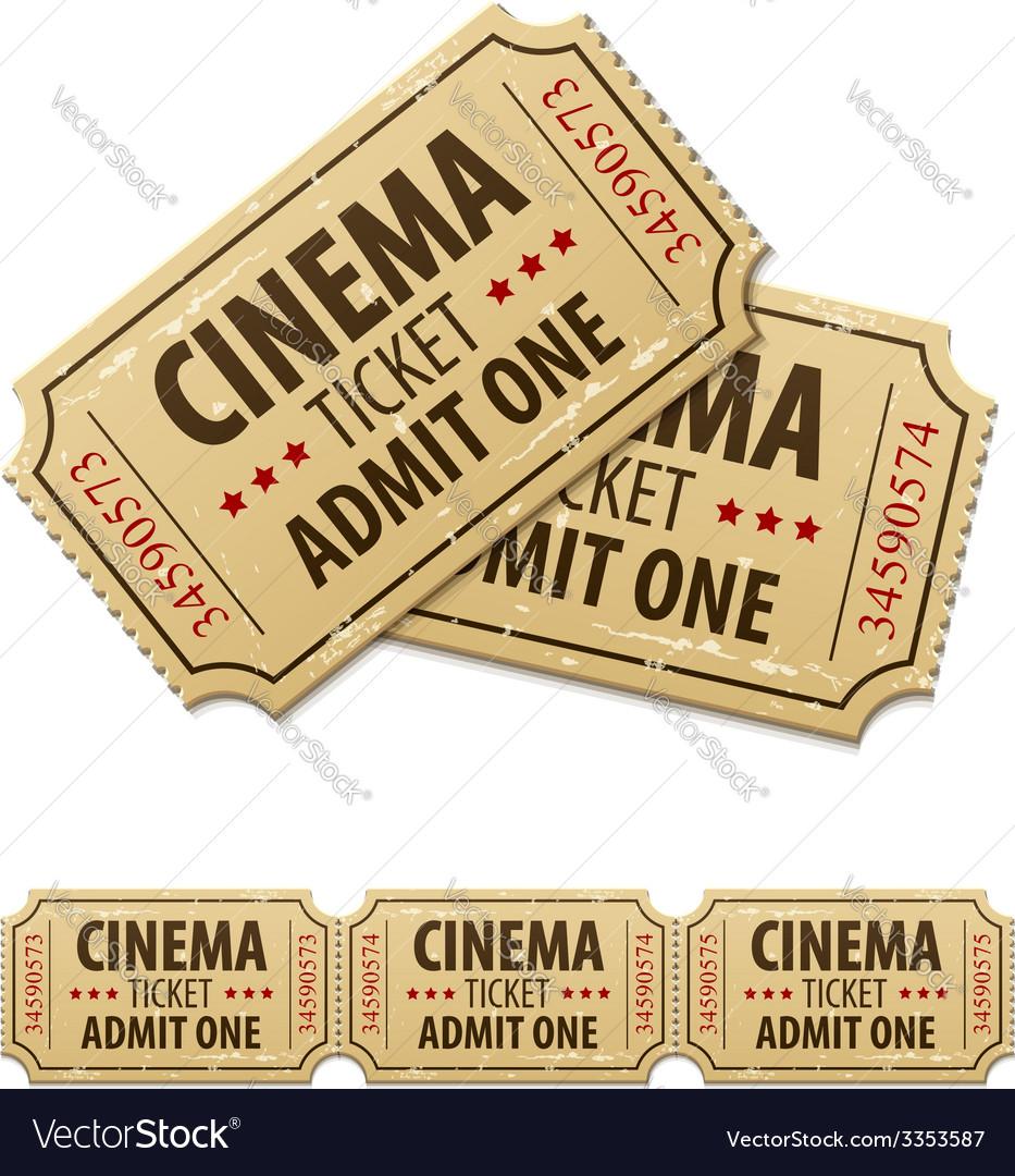 Old cinema tickets for cinema vector | Price: 1 Credit (USD $1)