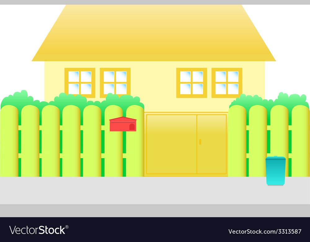 Orange house cartoon vector | Price: 1 Credit (USD $1)