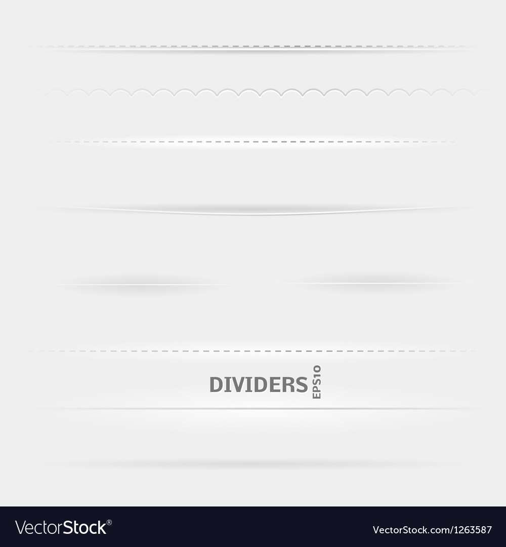 Set of dividers vector