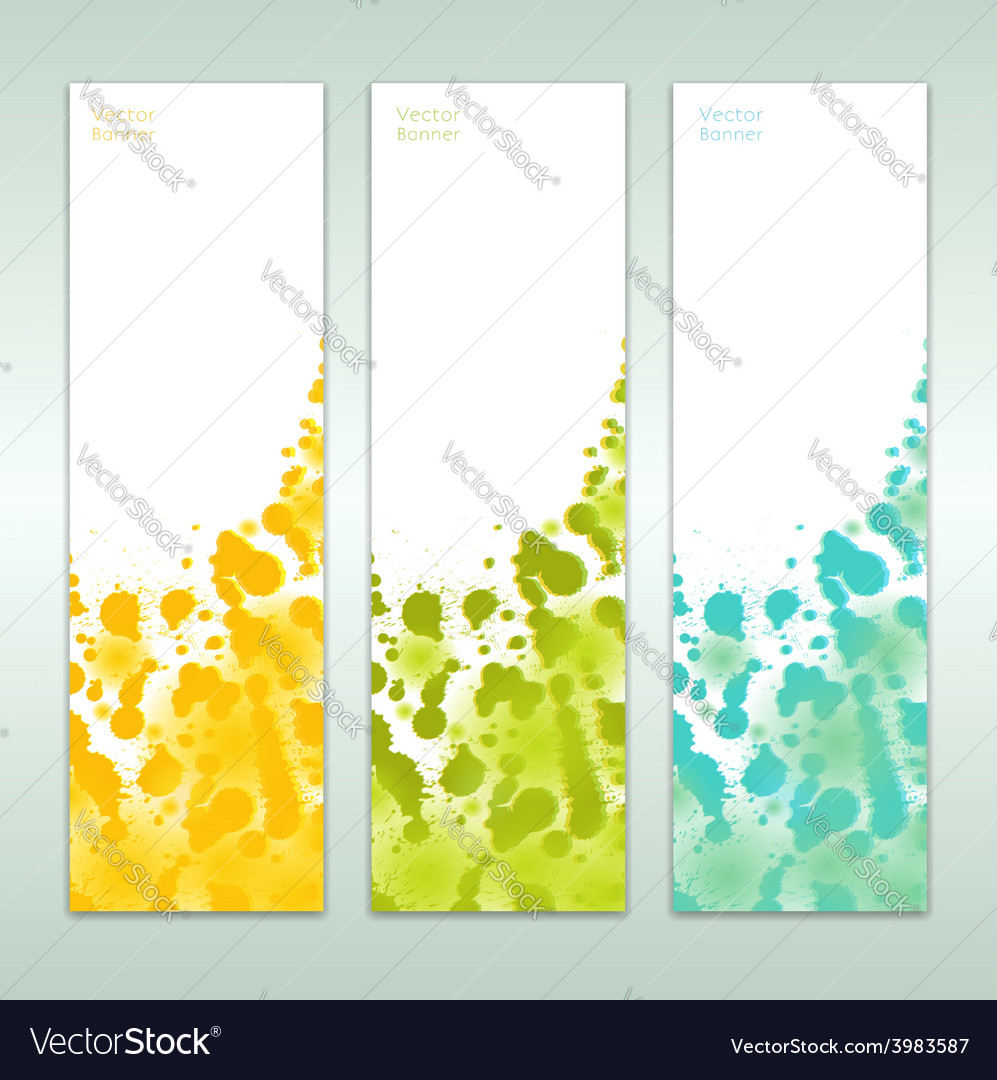 Set of three abstract banners eps 10 vector | Price: 1 Credit (USD $1)