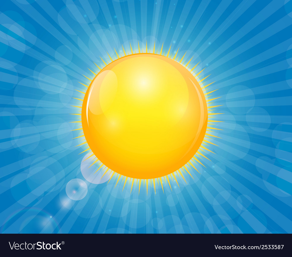 Sunny shiny background vector | Price: 1 Credit (USD $1)