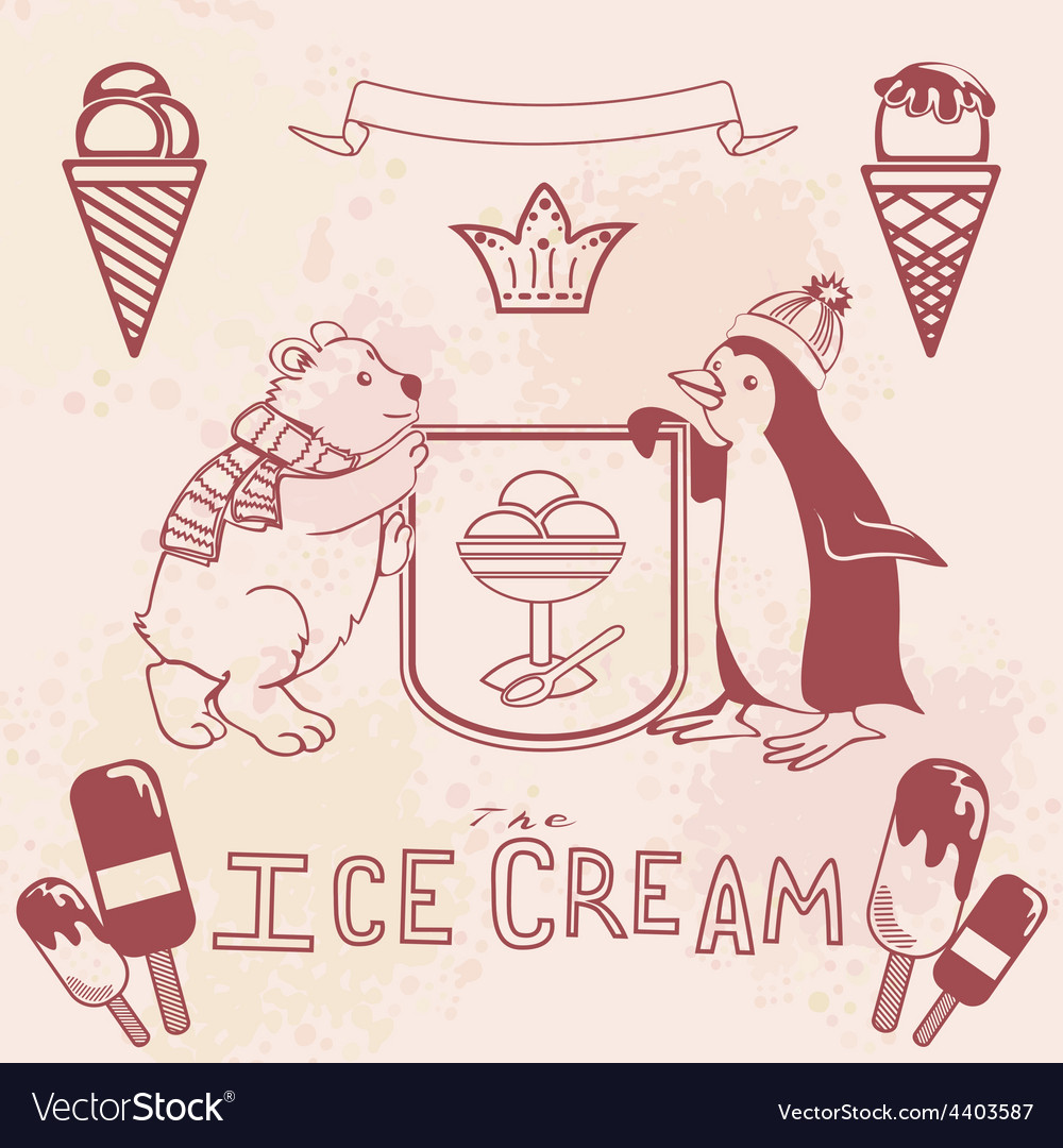 Various ice cream set vector | Price: 1 Credit (USD $1)