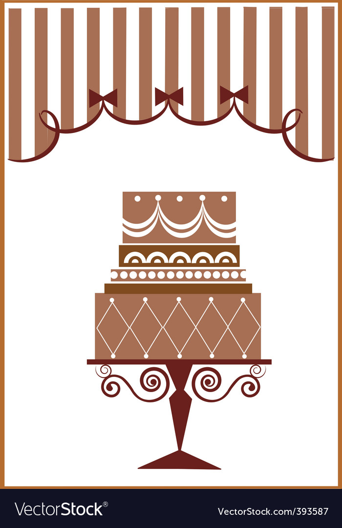 Vintage cake design vector | Price: 1 Credit (USD $1)