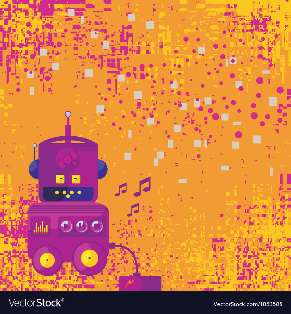 Background with robot vector