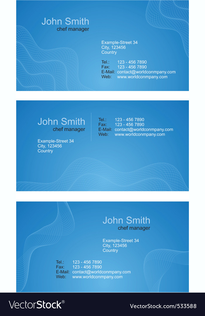 Business cards  blue set vector | Price: 1 Credit (USD $1)