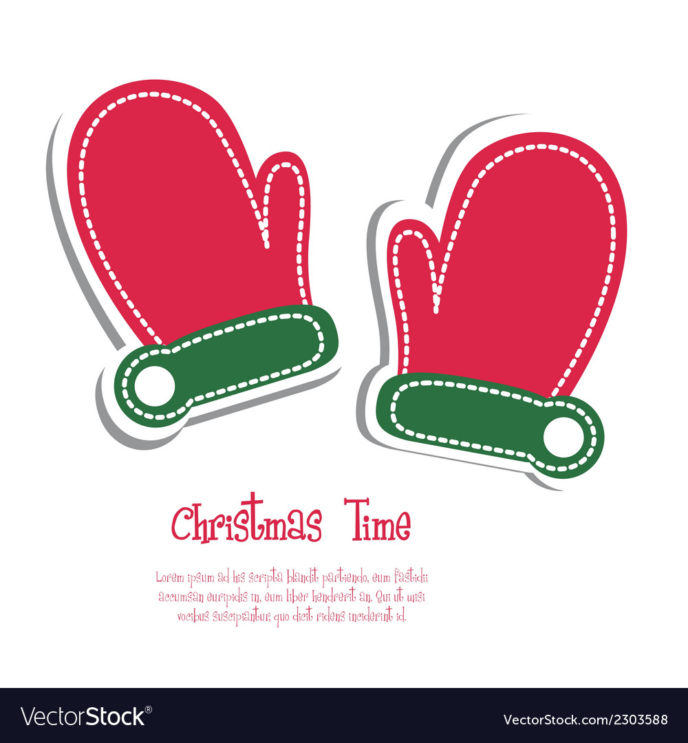 Christmas mittens vector | Price: 1 Credit (USD $1)