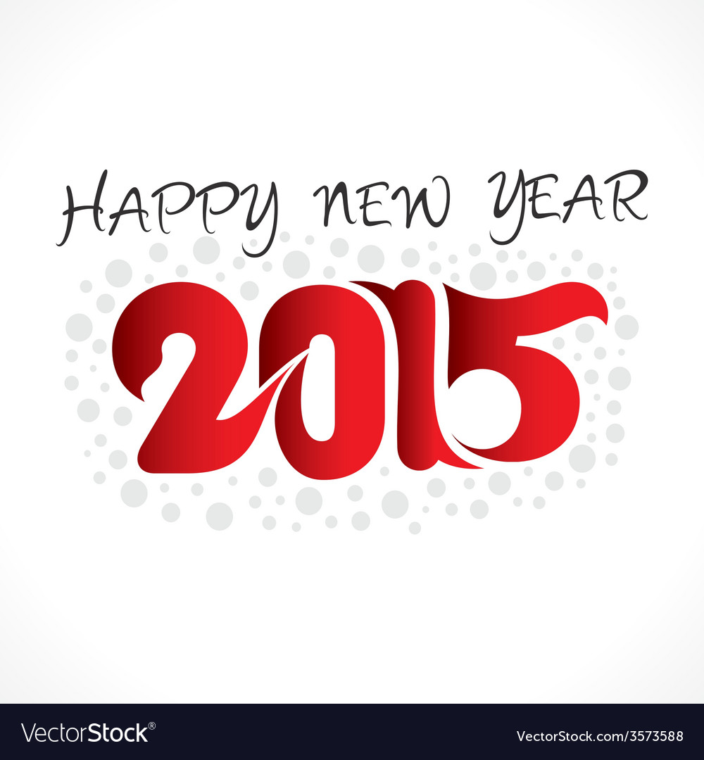 Creative new year 2015 greeting design vector | Price: 1 Credit (USD $1)