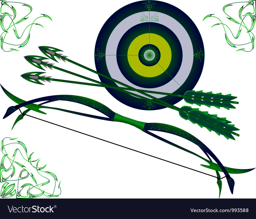 Fantasy bow and target vector | Price: 1 Credit (USD $1)