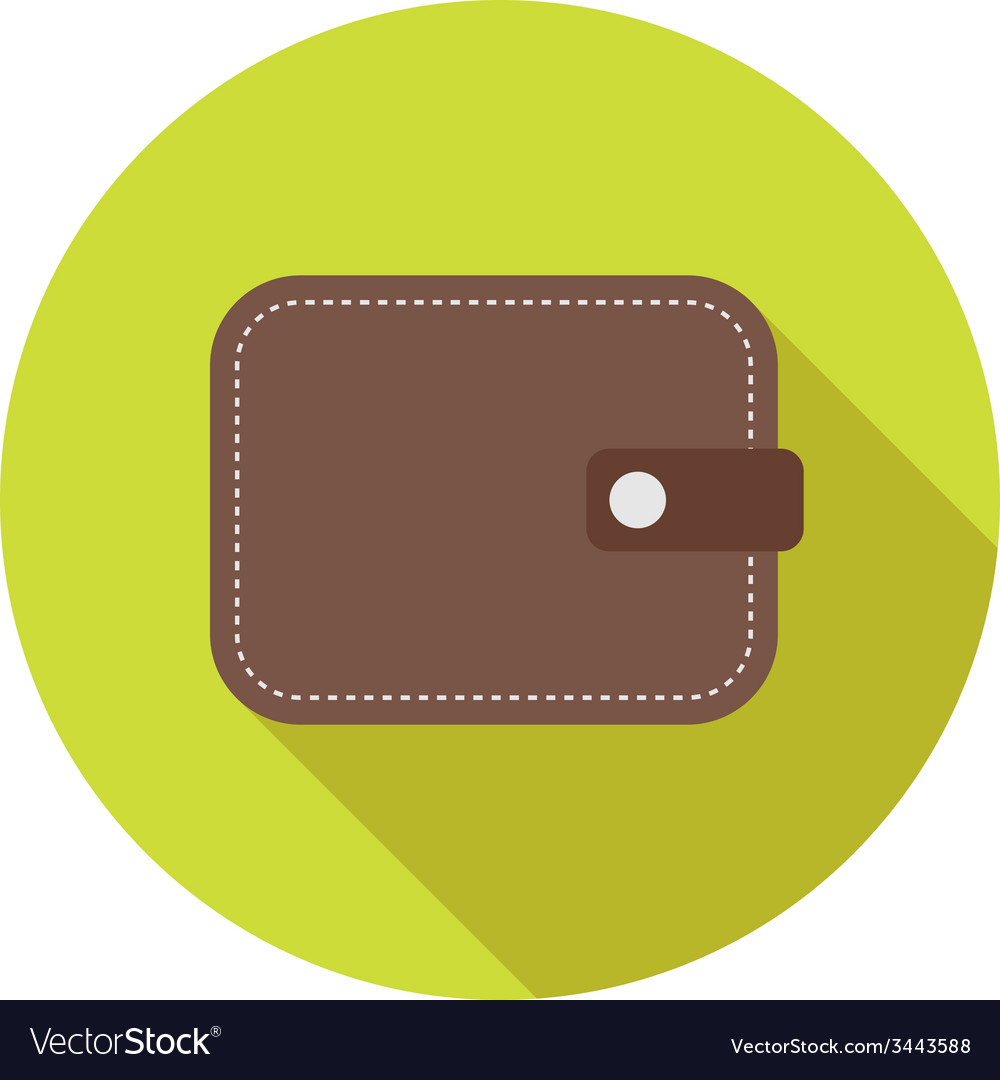 Flat modern round wallet icon vector | Price: 1 Credit (USD $1)