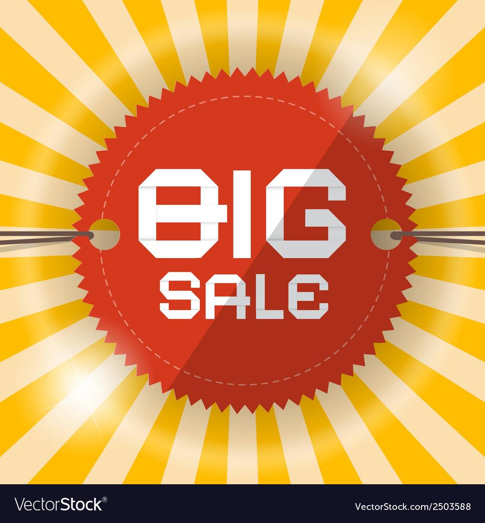 Retro big sale template vector | Price: 1 Credit (USD $1)