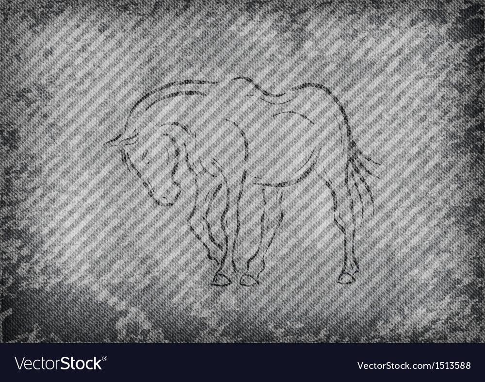 Texture grain grey with horse vector | Price: 1 Credit (USD $1)