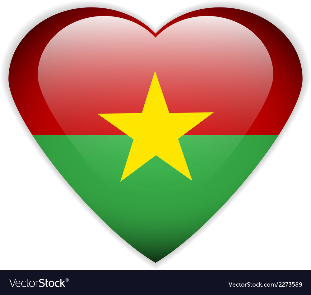 Burkina faso flag button vector | Price: 1 Credit (USD $1)