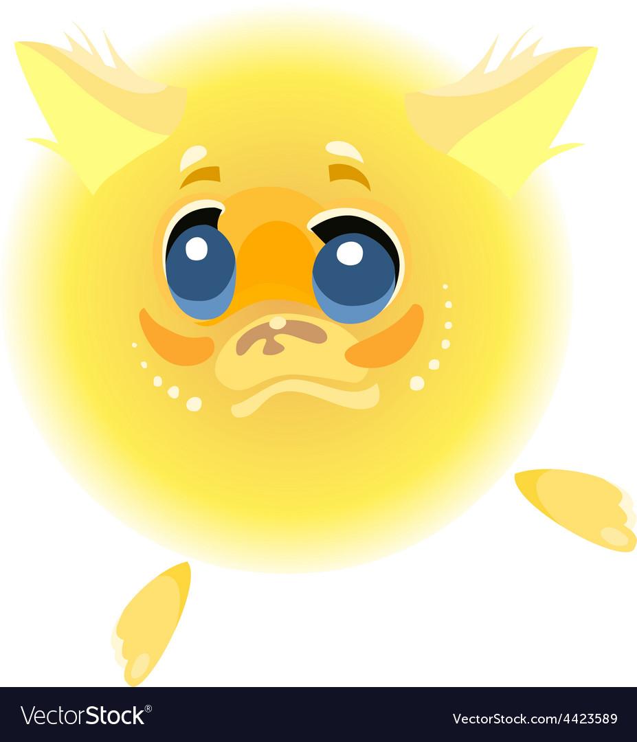 Cartoon character yellow furry animal vector | Price: 1 Credit (USD $1)