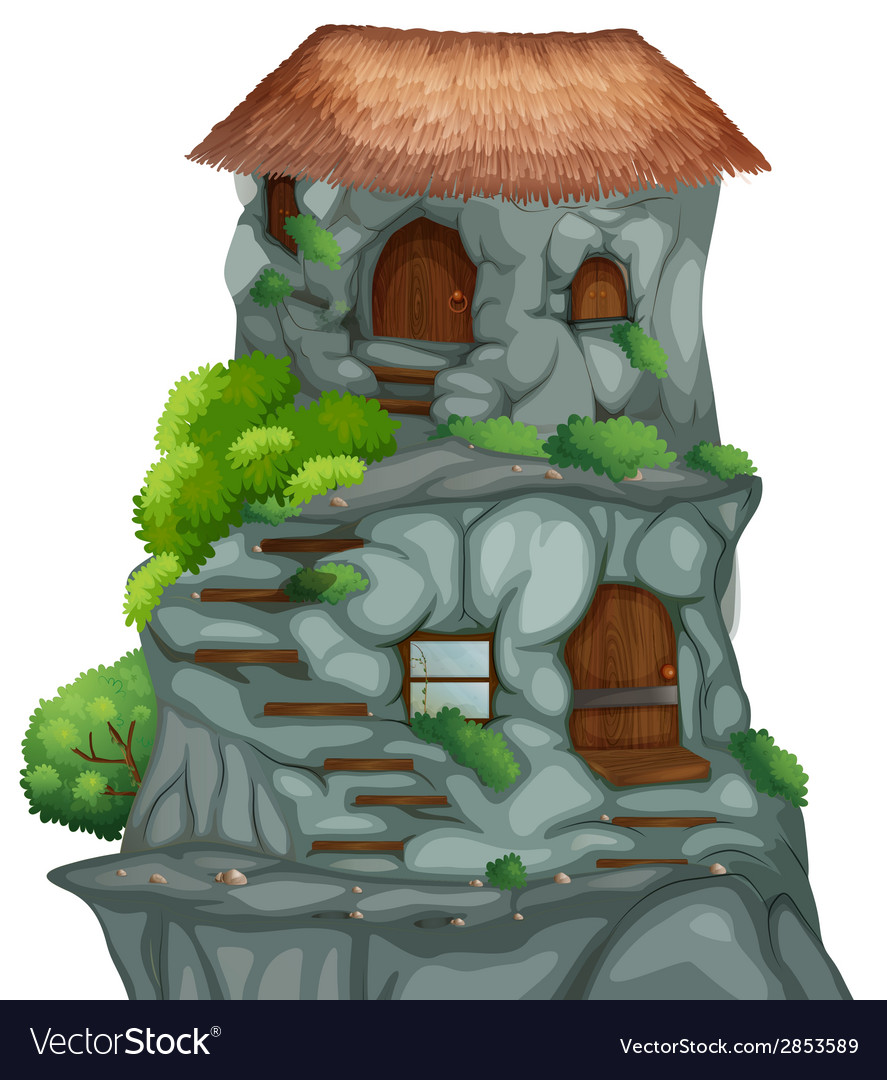 Cave house vector | Price: 1 Credit (USD $1)