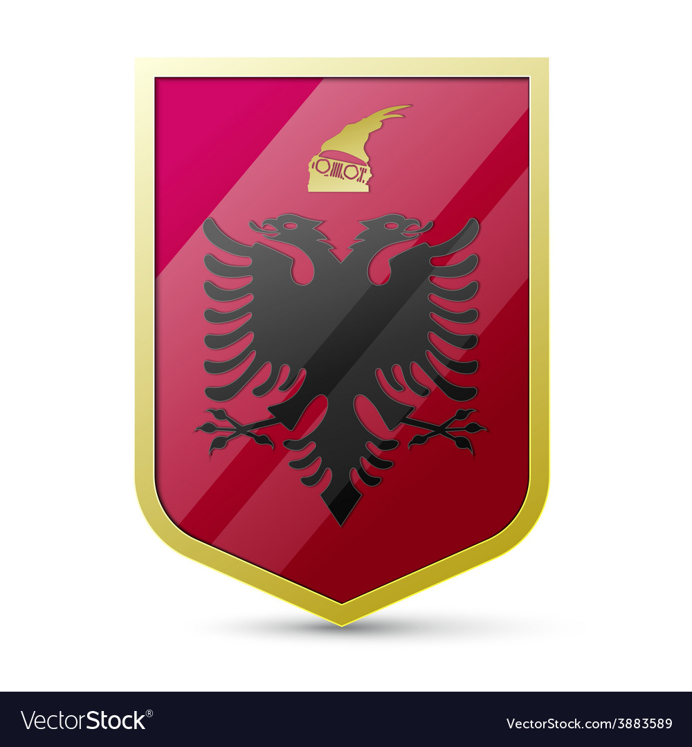 Coat of arms of albania vector | Price: 1 Credit (USD $1)