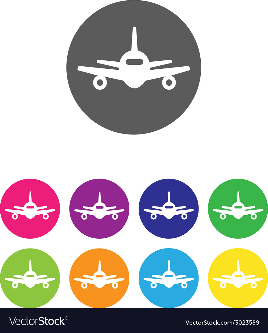 Flat air plane icons vector | Price: 1 Credit (USD $1)
