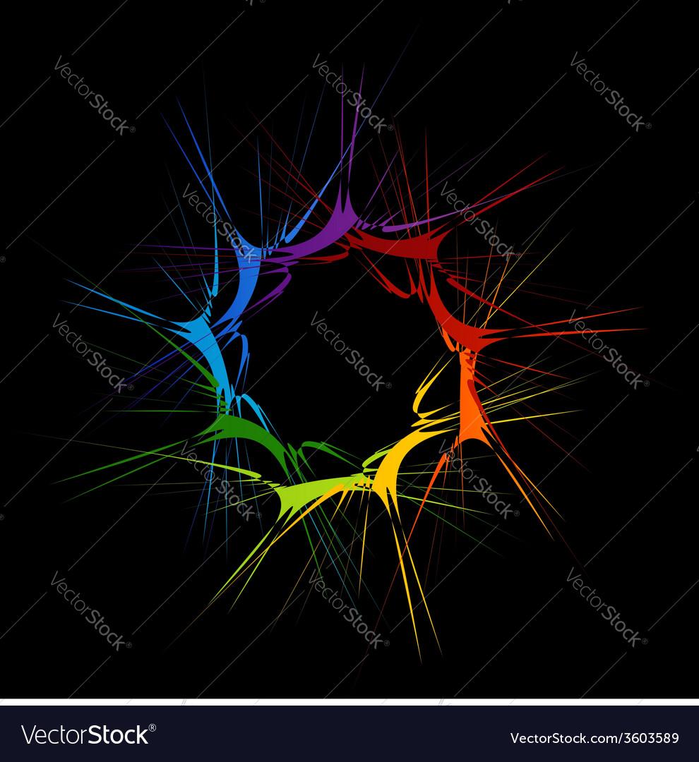 Fractal design element or banner for web vector | Price: 1 Credit (USD $1)