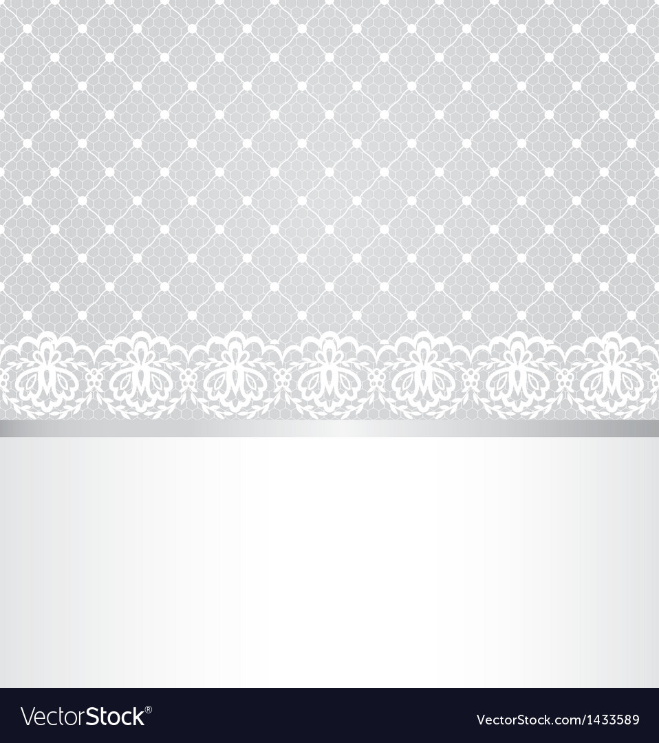 Lace floral border on net background vector | Price: 1 Credit (USD $1)