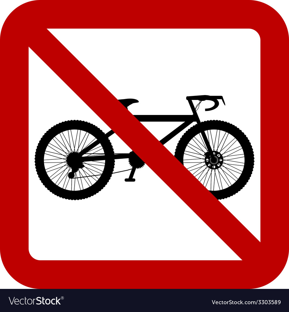 No bike sign vector | Price: 1 Credit (USD $1)