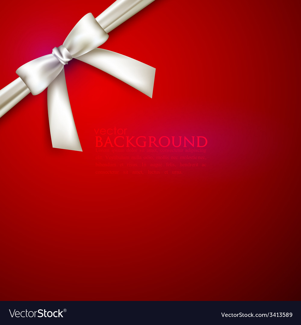 Red background with white bow vector | Price: 1 Credit (USD $1)
