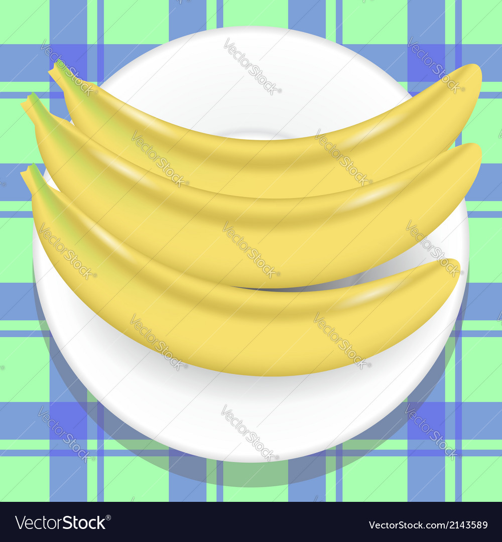 Yellow bananas vector | Price: 1 Credit (USD $1)