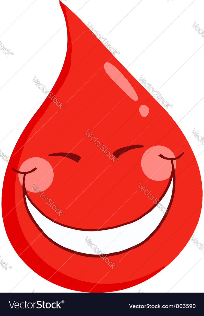 Blood guy smiling vector | Price: 1 Credit (USD $1)